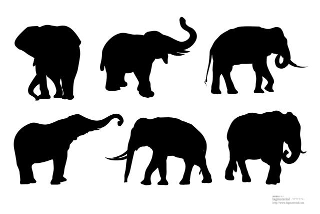 無料 動物シルエット無料 : elephantのシルエットベクター ...